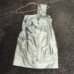 Stella McCartney metallic one shoulder mini dress
